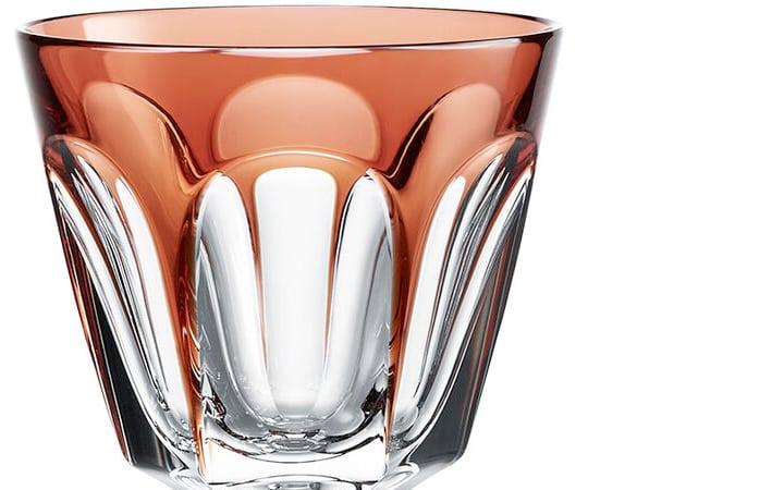 バカラ アルクール ラインワイングラス オレンジ ( Baccarat Harcourt Line Wine Glass Orange )