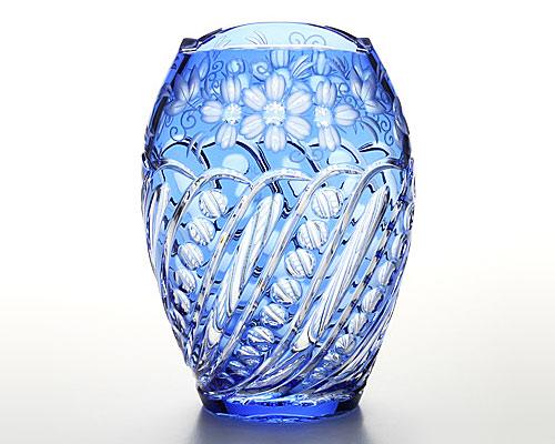 マイセンクリスタル 花瓶(ライトブルー) 26cm ANT