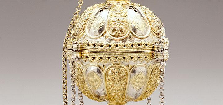 銀製 香炉 ロシア工芸 17世紀