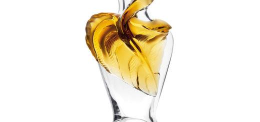 ラリック 花器 タネガ アンバー ( Lalique Tanega Vase, Amber Crystal Limited Edition )