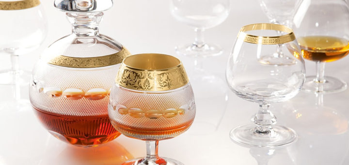 ボヘミアガラス モーゼル ブランデーセットII 16520/10160/OP ( Bohemian Glass Moser Brandy set II 16520/10160/OP, luxury 3 pcs gift set )