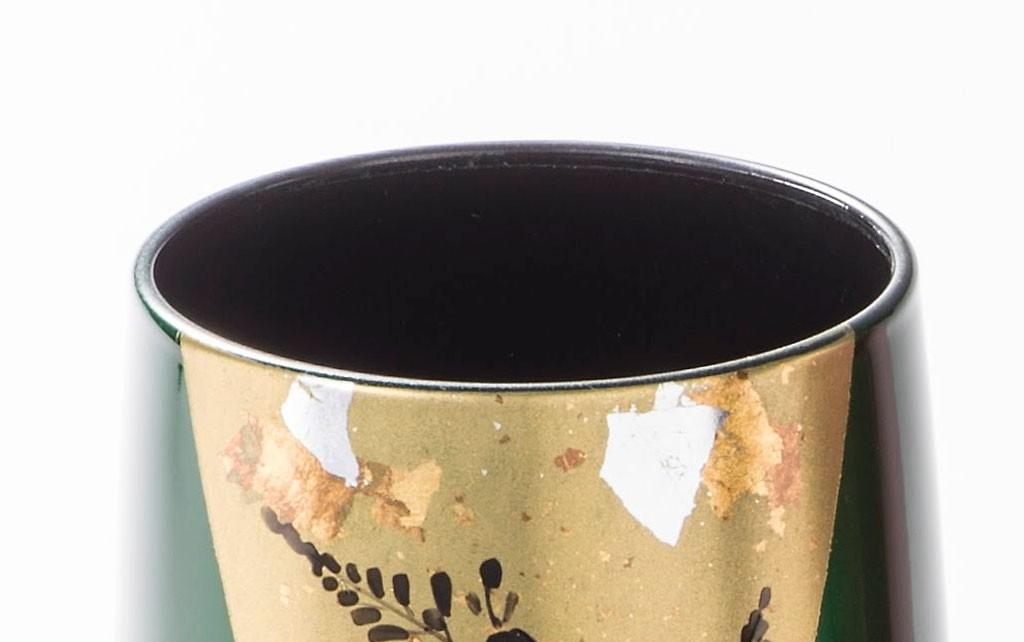 漆器 玉虫塗 ワインカップ ペア
