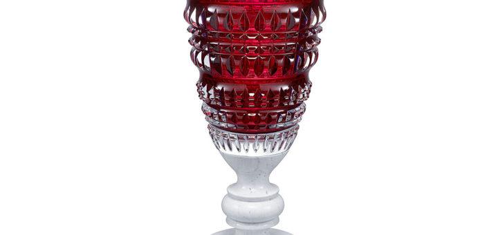 バカラ 花瓶 ニューアンティーク レッド ( Baccarat Vase New Antique Red )