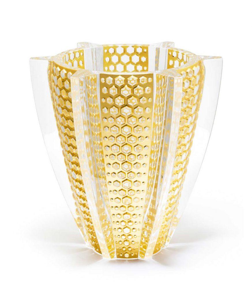 ラリック 花瓶 プロヴァンス レヨン 限定版 ( Lalique Provence Rayons Limited Edition Vase With Gold Leaf )