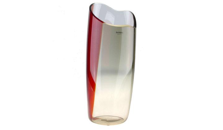 ヴェネチアガラス アルフレッド・バルビーニ 花瓶 レッド ( Venetian Glass Alfredo Barbini Handblown Murano Glass Vase )