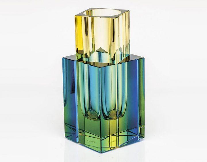 ボヘミアガラス モーゼル 花瓶 タングラム 3260 - 3262 ( Bohemian Glass Moser Vase Tangram 3260 - 3262, hand cut collection )