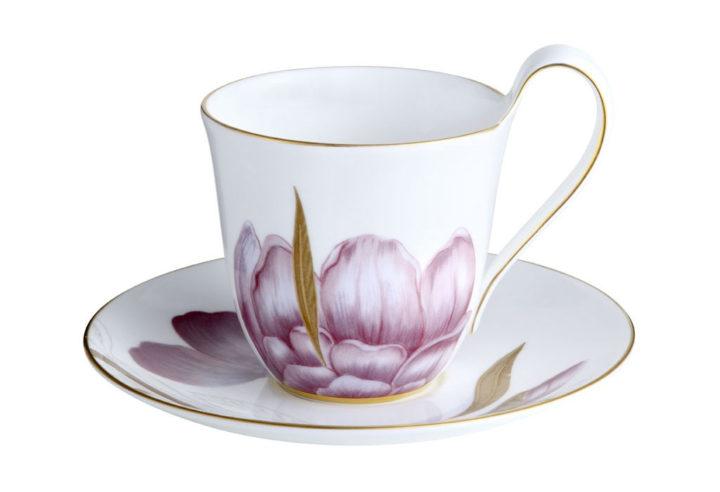 ロイヤルコペンハーゲン フローラ ハイハンドル カップ&ソーサー アイリス ( Royal Copenhagen Flora High handle Cup And Saucer Iris )