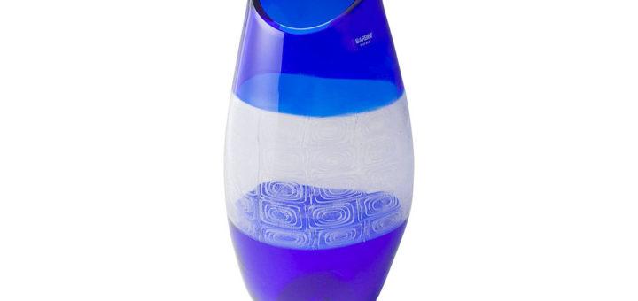 """ヴェネチアガラス アルフレッド・バルビーニ 花瓶 ダブル・インカルモ ( Venetian Glass Alfredo Barbini """"Doppio Incalmo"""" Vase )"""