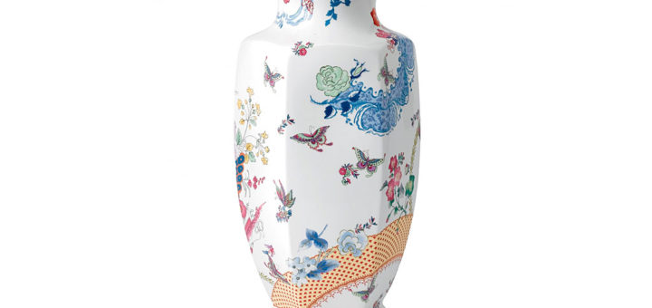 ウェッジウッド バタフライ ブルーム ファセット 花瓶 ( Wedgwood Butterfly Bloom 19.3in Faceted Vase )