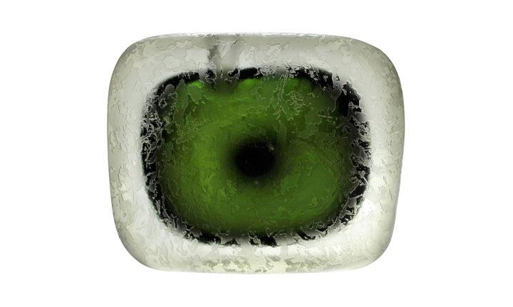 ヴェネチアガラス アルフレッド・バルビーニ 花瓶 アシッドエッチング コロッソ ( Venetian Glass Alfredo Barbini Acid-Etched Murano Corroso Vase )