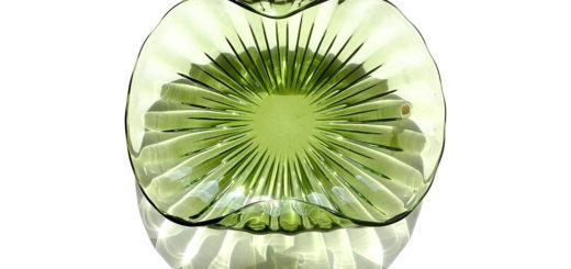ヴェネチアガラス アルフレッド・バルビーニ センターピース ボウル ( Venetian Glass Alfredo Barbini Sommerso Ribbed Body Centerpiece Bowls )