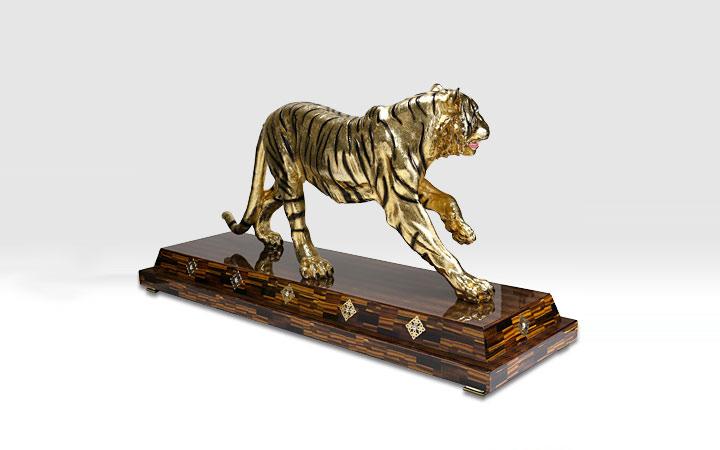 Gold Line SRL オブジェ リミテッドエディション タイガー マキシゴールド