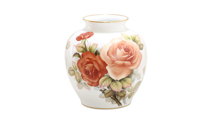 大倉陶園 花器 「クラシックローズ」
