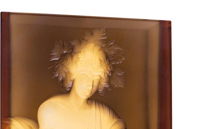 ボヘミアガラス モーゼル 花瓶 バッカス ( Bohemian Glass Moser Bacchus Hand Cut and Engraved Vase )