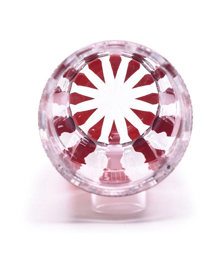 江戸切子 コレクション花器 紅色