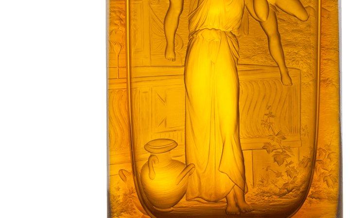ボヘミアガラス モーゼル 花瓶 ジャスミン ( Bohemian Glass Moser Jasmine Hand Cut and Engraved Vase )