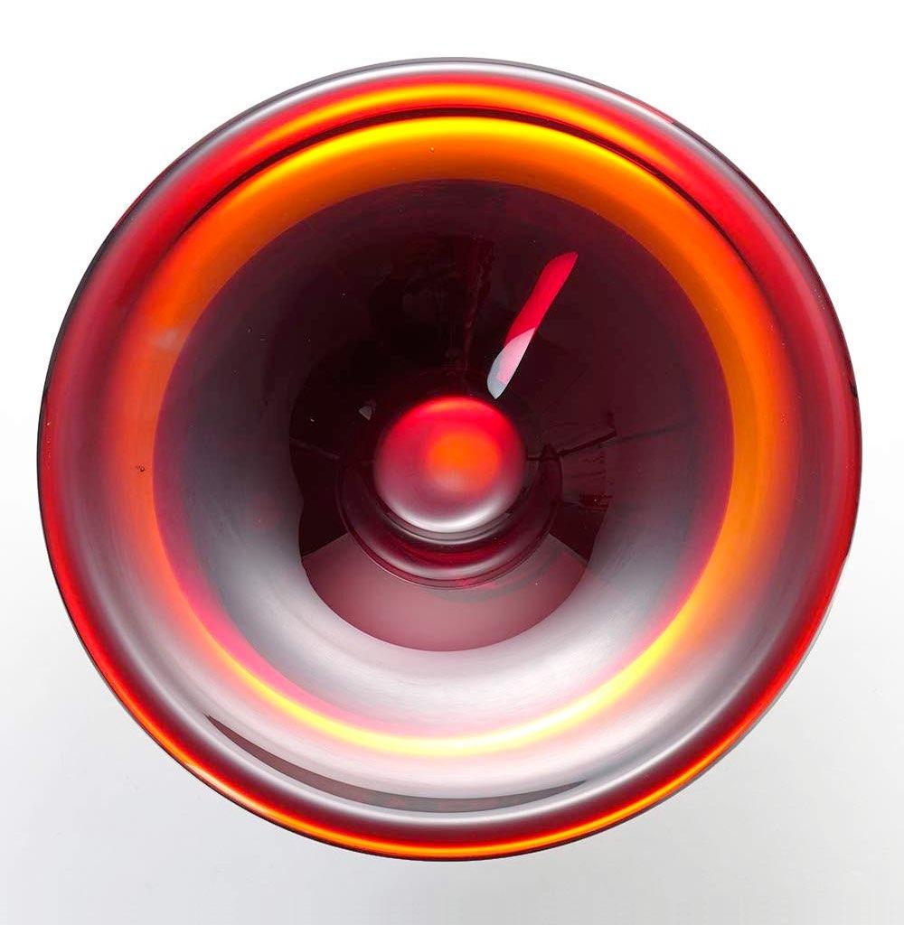 ヴェネチアガラス コンポート ヴェネチアンレッド ( Venetian Glass Compote Venetian Red )