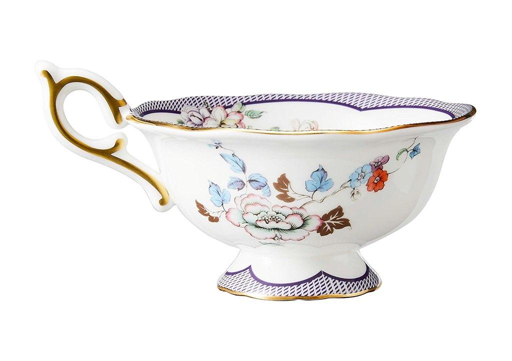 ウェッジウッド ワンダーラスト ミッドナイト クレーン ティーカップ&ソーサー ( Wedgwood Wonderlust Midnight Crane Teacup & Saucer )