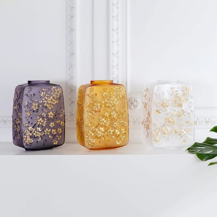 ラリック チェリーフラワーズ 花瓶 ( Lalique Fleurs De Cerisier Vase )