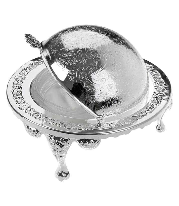 クイーン・アン バターディッシュ ボウル カバー・脚付 ( Queen Anne Revolving Butter Dish )