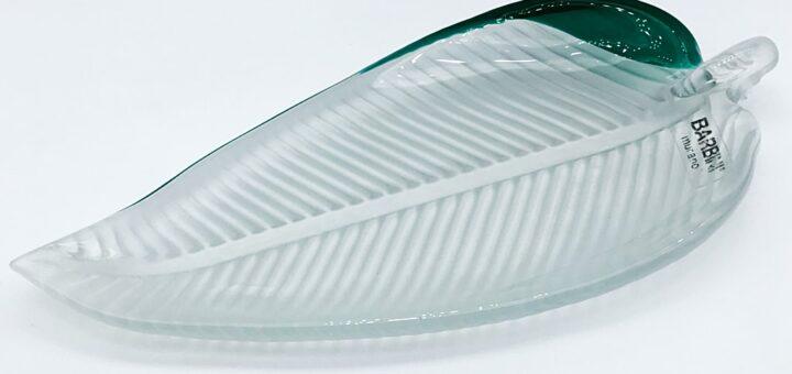 ヴェネチアガラス アルフレッド・バルビーニ トレイ リーフ ( Venetian Glass Alfredo Barbini Tray Leaf )