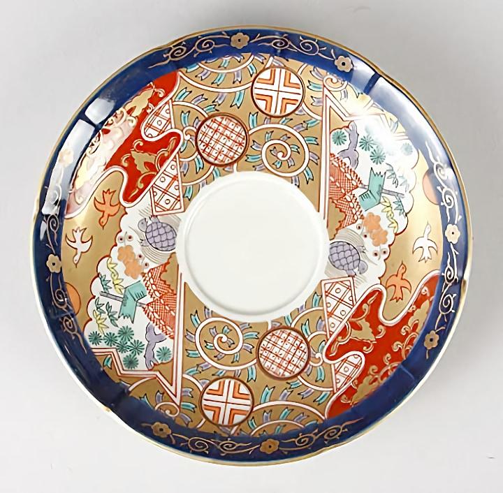 有田焼 林九郎窯 古伊万里風 吉祥唐草紋 珈琲碗皿